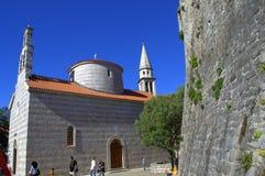 Old Town church,Budva,Montenegro Stock Images