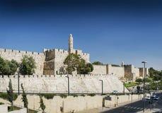 Old town citadel walls of jerusalem israel. Old town citadel walls landmark of jerusalem israel Royalty Free Stock Photography