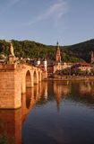 Old town and city bridge in Heidelberg Stock Photos