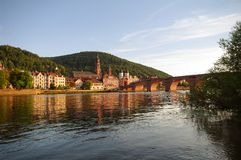 Old town and city bridge in Heidelberg Royalty Free Stock Photo