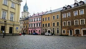 Old town in the city center of Lublin Stock Photo