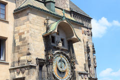 Old Town City Hall astronomical clock in Prague Stock Image