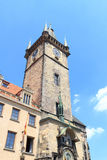 Old Town City Hall clock tower and astronomical clock in Prague Stock Image