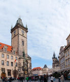 Old Town City Hall in Prague in the morning Royalty Free Stock Images