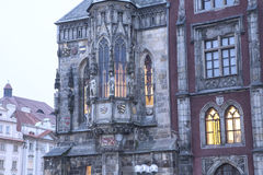 Old Town City Hall in Prague (Night view), view from Old Town Square, Czech Republic Stock Photo