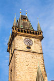 Old Town City Hall in Prague, view from Square. Stock Images