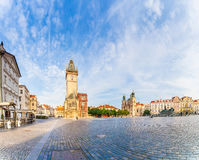 Old Town City Hall in Prague, view from Square. Royalty Free Stock Photos