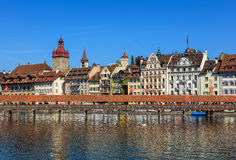 Old town of the city of Lucerne, Switzerland Stock Photo