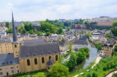 Old town of the City of Luxembourg royalty free stock image