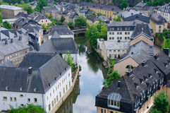 Old town of the City of Luxembourg Royalty Free Stock Photos
