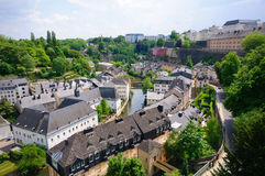 Old town of the City of Luxembourg Royalty Free Stock Images