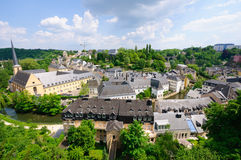 Old town of the City of Luxembourg Stock Photos