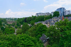 Old town of the City of Luxembourg Stock Photo