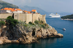 Old town and city walls. Dubrovnik. Croatia Stock Images