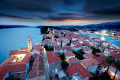 Old Town Cityscape Stock Photography