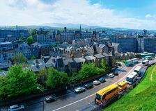 Old town cityscape from Edinburgh Castle of Scotland. In the UK royalty free stock image