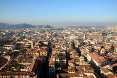 Old town cityscape of Florence from above. Italy stock images