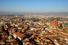Old town cityscape of Florence from above. Italy royalty free stock photos