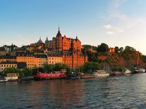 Old Town cityscape in Stockholm, Sweden Royalty Free Stock Photography