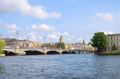 Old town cityscape of Stockholm, Sweden Royalty Free Stock Images