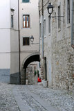 Old Town in Cividale del Friuli. Residential area in the old residential area of Cividale del Friuli in Italy Stock Image