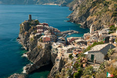 Old town on a cliff above sea Royalty Free Stock Photography