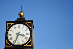 The old town clock in Lyme Regis Dorset Stock Photos