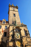 Old Town clock tower in Prague Stock Images