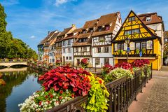 Old town of Colmar, Alsace, France. On a sunny day Stock Photo