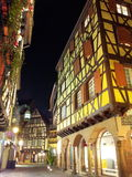 Old town Colmar. It was a chilly winter night. I was in the city of Colmar, Alsace, France Stock Images