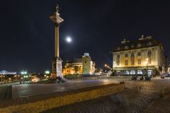 Old Town, column in Warsaw Stock Photos