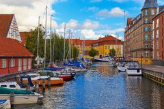 Old Town in Copenhagen, Denmark Stock Images
