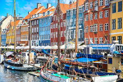 Old town at Copenhagen, Denmark Royalty Free Stock Photos