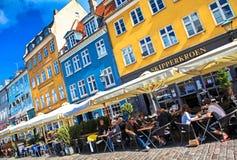 Old town at Copenhagen, Denmark stock image