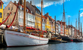 Old town at Copenhagen, Denmark Stock Photos