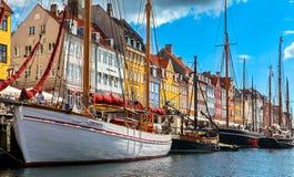 Old town at Copenhagen, Denmark stock photos