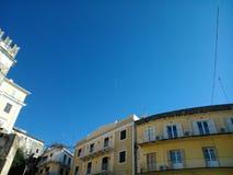 Old town of Corfu. Evgeniou Voulgareos street Royalty Free Stock Photo