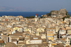Old town of Corfu island in Greece Stock Photo