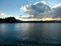 The old town of Corfu. A view from the sea Royalty Free Stock Photos