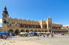 Old town in Cracow, Poland stock photo