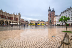 Old town of Cracow with Sukiennice landmark Stock Image
