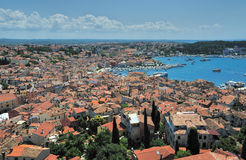 Old town. Croatia. Rovin. View of the old town. Croatia. Rovin Royalty Free Stock Photography