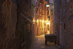 Old town in Croatia. A view of the streets in an old town in Croatia royalty free stock photo