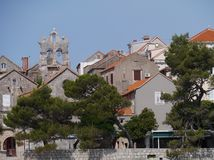 The old town of the Croatian city Korcula Royalty Free Stock Photos