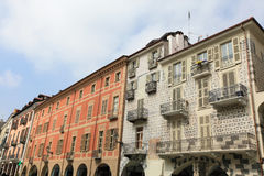 Old town of Cuneo. Historic old town of Cuneo, Italy Royalty Free Stock Images