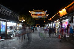 Old town of Dali by night Royalty Free Stock Image