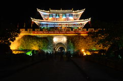 Old town of Dali by night Royalty Free Stock Photography