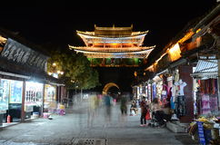 Old town of Dali by night Stock Image