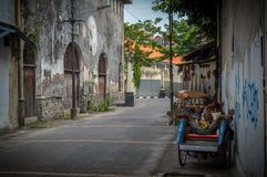 Old Town during the day. NSo beautiful the old city in semarang, Indonesia Royalty Free Stock Image