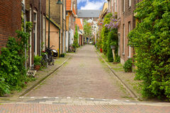 Old town, Delft, Holland. Colorful street in old town  of Delft, Holland Stock Photo
